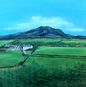 A painting of Lough Salt Mountain, Glen, Co. Donegal