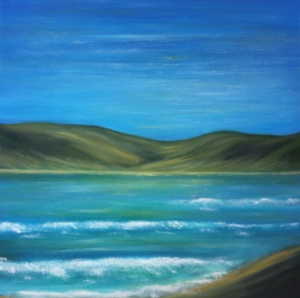 A painting inspired by the Donegal coastline